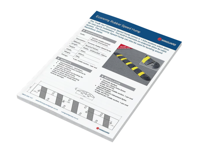 Download our Economy Rubber Speed Hump Spec Sheet