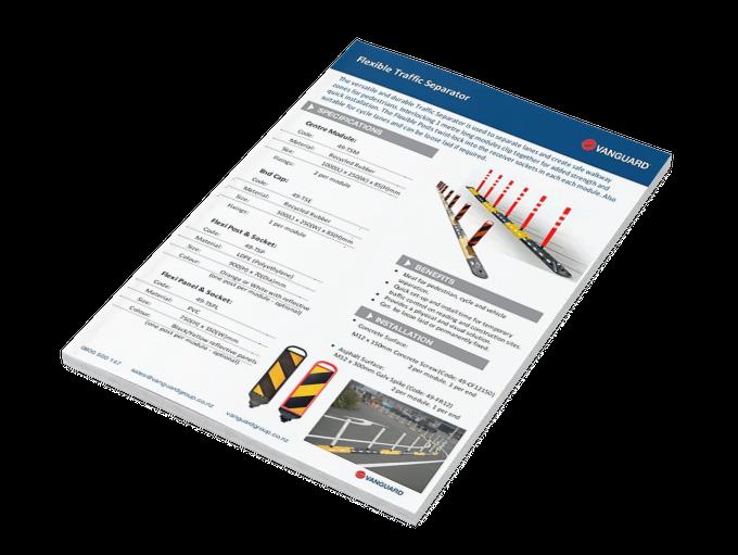 Download our Flexible Traffic Separator Spec Sheet
