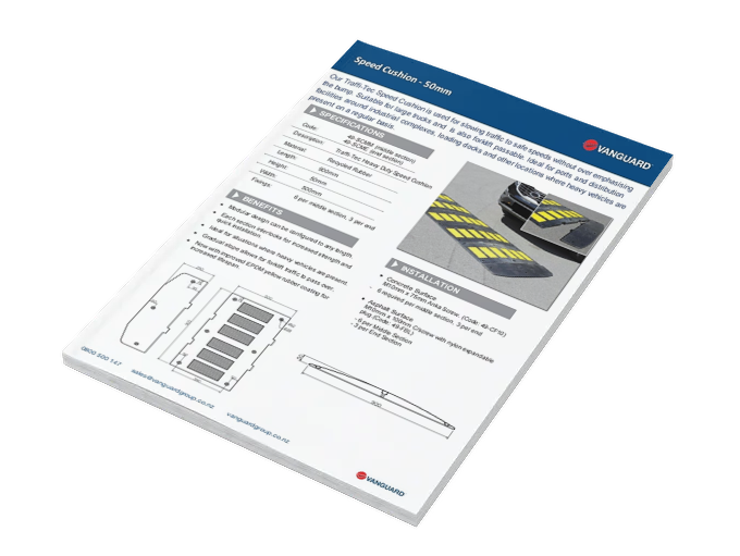 Download our Speed Cushion 50mm Spec Sheet