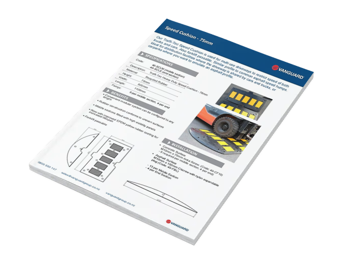 Download our Speed Cushion 75mm Spec Sheet